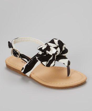 QQ Girl Zebra Studded Bow Julia Sandal