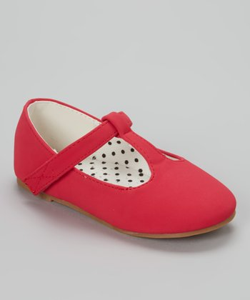 QQ Girl Red Lovely T-Strap Shoe