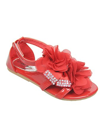 QQ Girl Red Petal Apple Sandal