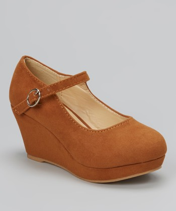 Brown Lovely Stitched Wedge Mary Jane