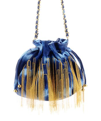 Blue Tie-Dye Vin Shoulder Bag
