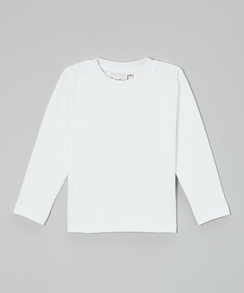 White Long-Sleeve Tee - Infant, Toddler & Boys