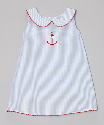 Blue Anchor Shift Dress - Infant & Girls