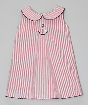 Red Anchor Shift Dress - Infant, Toddler & Girls