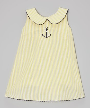 Yellow Anchor Shift Dress - Infant, Toddler & Girls