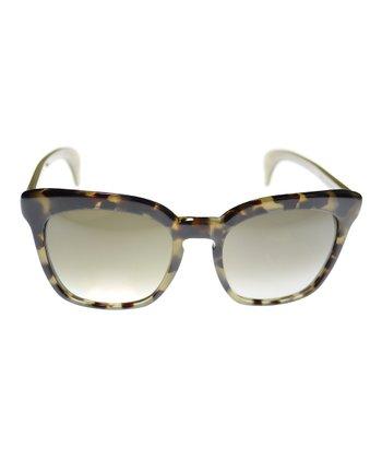 Bottega Veneta Khaki & Sand Sunglasses