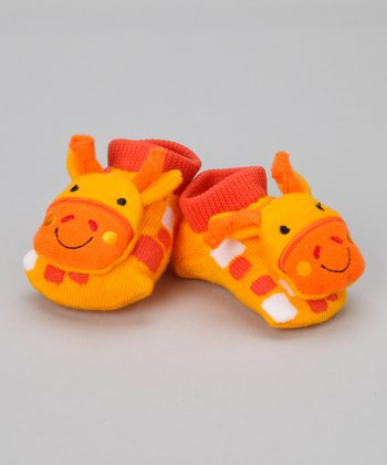 Yellow Giraffe Slipper Socks