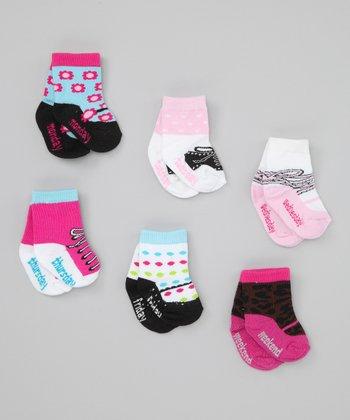Pink, Black & Blue Days of the Week Socks Set