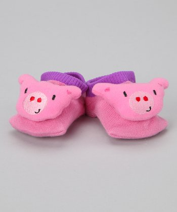 Pink Pig Slipper Socks