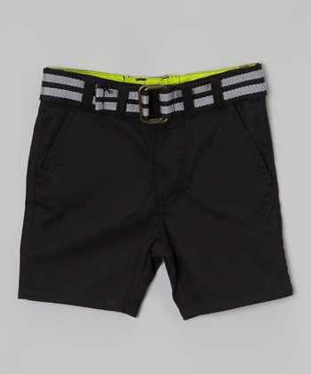 Black Belted Shorts - Toddler