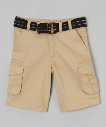 Uniform Khaki Belted Cargo Shorts - Toddler