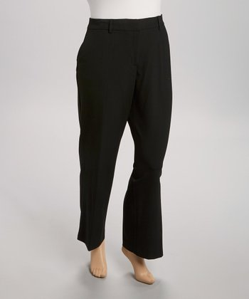 Black Perfect Bootcut Pants - Plus