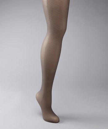 Gray Sheer Diamond Shaper Tights - Women & Plus