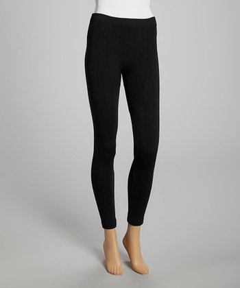 Black Knit Leggings