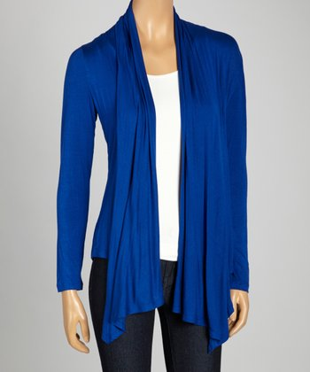 Royal Blue Open Cardigan
