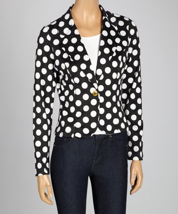 Black & White Polka Dot Blazer