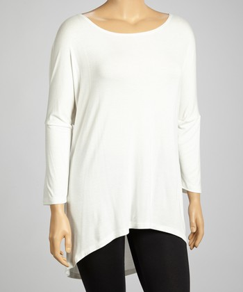 Ivory Dolman Tunic - Plus