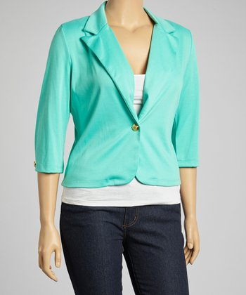 Jade Three-Quarter Sleeve Blazer - Plus