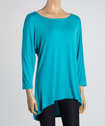 MOA Collection Jade Scoop Neck Tunic