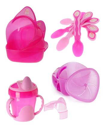 Pink Two-Handle Training Cup Set