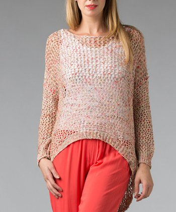 Coral Net Hi-Low Sweater - Women