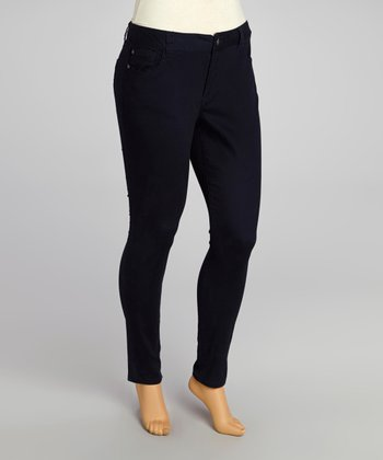 Dark Navy Twill Pants - Plus