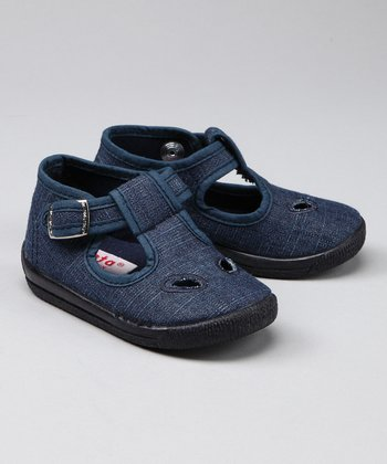 Light Denim T-Strap Shoe