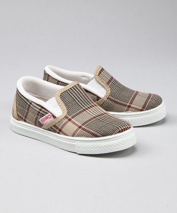 Nude & Black Plaid Sneaker