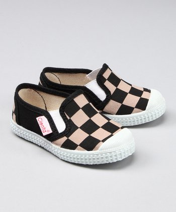 Brown & Tan Checkerboard Sneaker