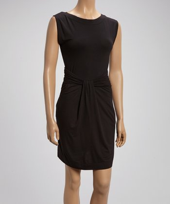 Black Pocket Sleeveless Dress