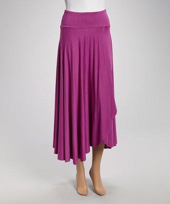 Orchid Faux Wrap Skirt