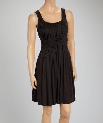 Black Weave Sleeveless Dress