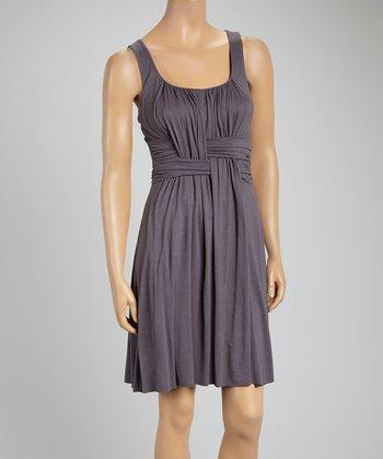 Slate Gray Weave Sleeveless Dress