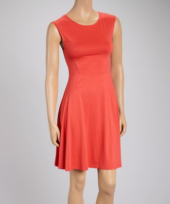 Coral A-Line Dress