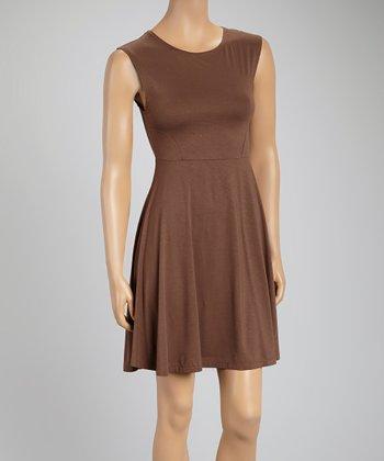 Bronze A-Line Dress