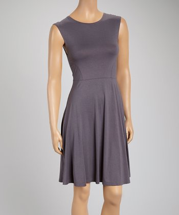 Slate Gray A-Line Dress