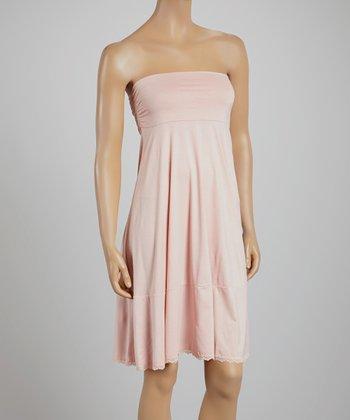Tea Rose Lace-Trim Convertible Midi Skirt