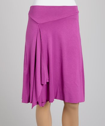 Orchid Double-Layer Drape Skirt