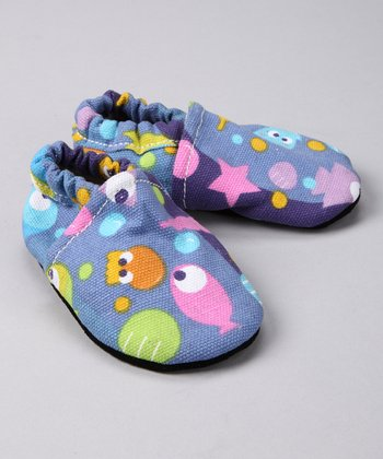 Periwinkle Fish Booties