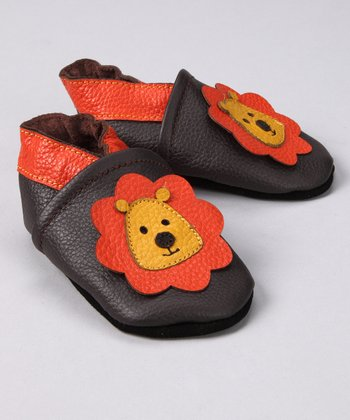 Orange Lion Booties