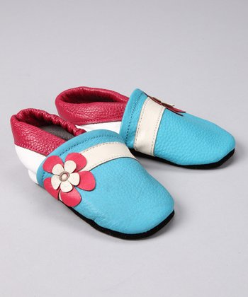 Blue & Red Hawaii Flower Booties
