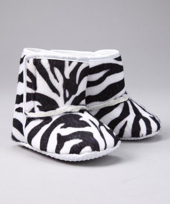 Black & White Zebra Boot