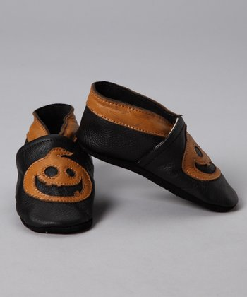 Black & Orange Jack-o'-Lantern Booties