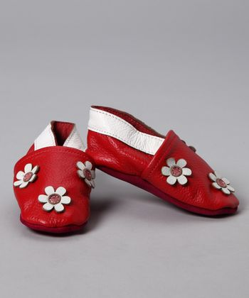Red Flower Booties