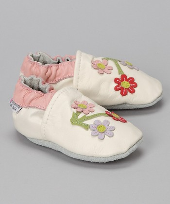 White Cherry Blossom Booties