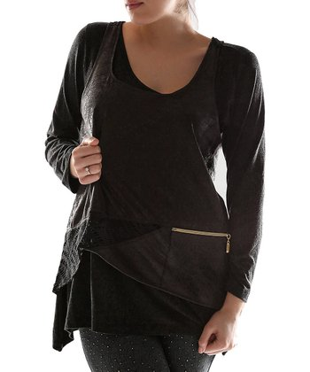 Black Layered Tunic - Plus