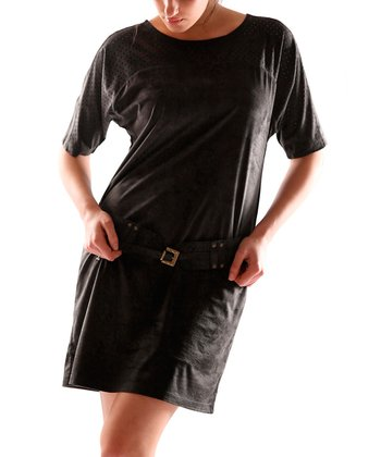 Black Scoop Neck Dress - Women