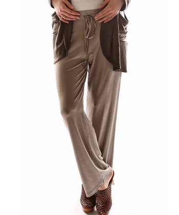 Mink Drawstring Lounge Pants - Plus