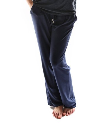 Navy Blue Drawstring Lounge Pants - Plus