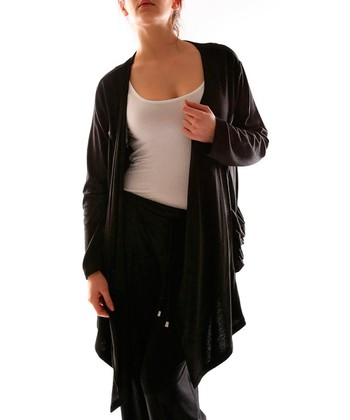 Black Open Duster - Plus